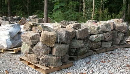 retaining wall boulders